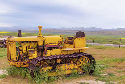 Poster featuring the photograph Carrizo Plain Bulldozer by Marc Crumpler