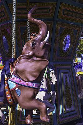 Carrousel Elephant Poster