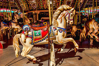 Carrousel Horse Ride Poster by Garry Gay