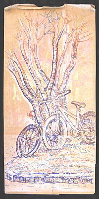 Cart Herder Bikes Poster by Radical Reconstruction Fine Art Featuring Nancy Wood