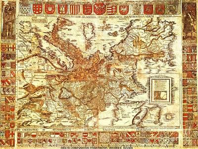 Carta Itineraria Europae Poster