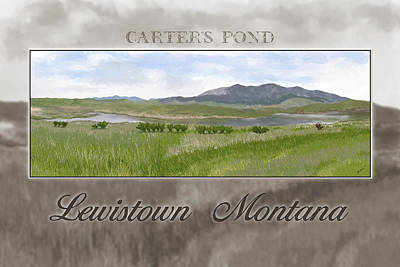Poster featuring the digital art Carter's Pond by Susan Kinney