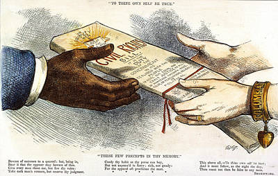 Cartoon: Civil Rights 1875 Poster by Granger