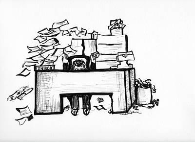 Cartoon Desk Poster