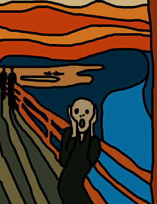 Cartoon Scream Poster by Jera Sky