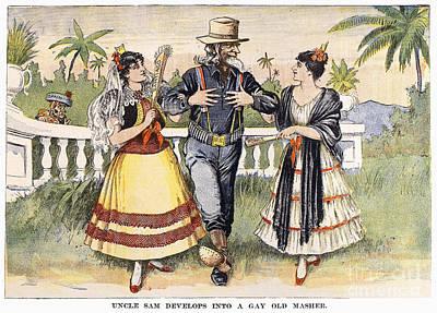 Cartoon: Uncle Sam, 1898 Poster