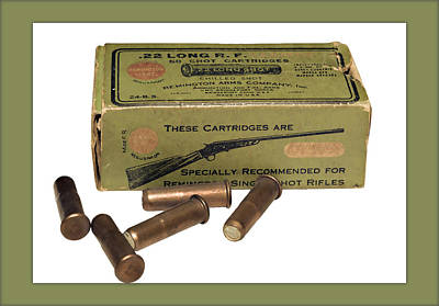 Cartridges For Rifle Poster by Susan Leggett