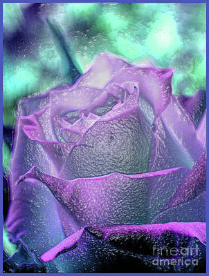 Poster featuring the photograph Carved Rose by Lance Sheridan-Peel