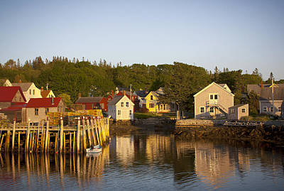 Carvers Harbor At Sunset, Vinahaven, Maine Poster