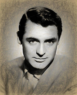 Cary Grant Draw Poster