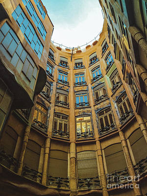 Poster featuring the photograph Casa Mila - Barcelona by Colleen Kammerer