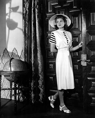 Casablanca, Ingrid Bergman Wearing Poster by Everett