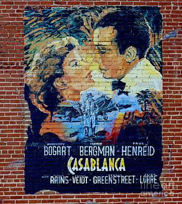 Poster featuring the photograph Casablanca Mural 2013 by Padre Art