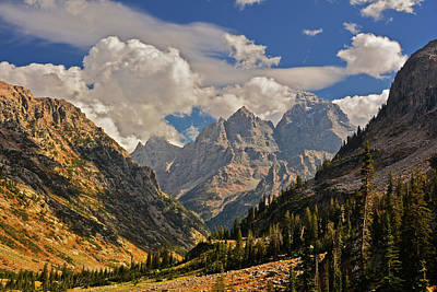 Cascade Canyon With Storm Clearing Poster by Raymond Salani III