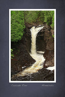 Poster featuring the photograph Cascade River Scrapbook Page by Heidi Hermes