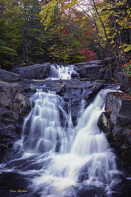 Cascades In Autumn Poster