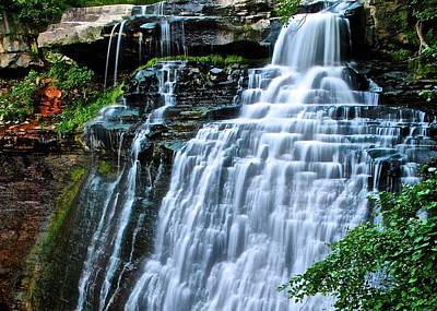 Cascading Falls Of Brandywine Poster by Frozen in Time Fine Art Photography