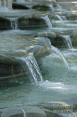 Cascading Fountain Poster