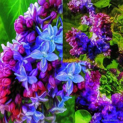Cascading Lilacs Poster by Jo-Anne Gazo-McKim