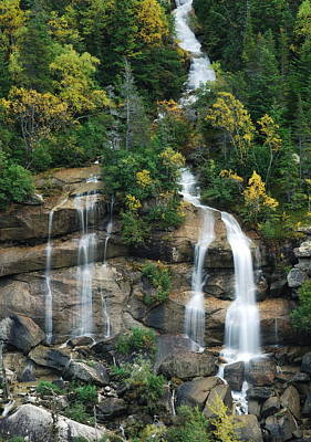 Cascading Skagway Waterfall  Poster by Michael Peychich