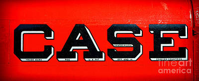 Case Tractor Nameplate Poster by Olivier Le Queinec