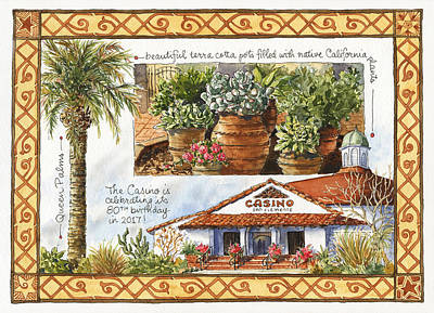 Casino San Clemente Poster by Leslie Fehling