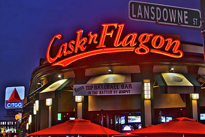 Cask And Flagon Citgo Sign Lansdowne Street Poster by Toby McGuire