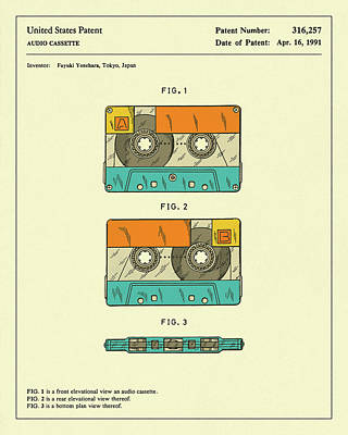 Cassette Tape 1991 Poster by Jazzberry Blue