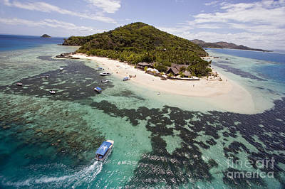 Castaway Island Aerial Poster by Dave Fleetham - Printscapes