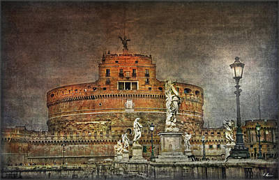 Poster featuring the photograph Castel Sant Angelo Fine Art by Hanny Heim
