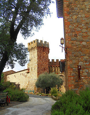Castello Di Amorosa Napa Valley California Poster by Irina Sztukowski