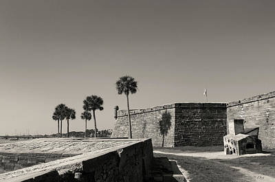 Castillo De San Marcos, Monochrome Poster