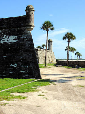 Poster featuring the photograph Castillo De San Marcos St Augustine Florida by Bill Holkham