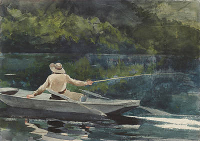 Casting  Number Two Poster by Winslow Homer