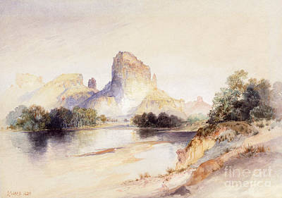 Castle Butte, Green River, Wyoming Poster by Thomas Moran
