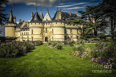 Castle Chaumont With Garden Poster by Heiko Koehrer-Wagner