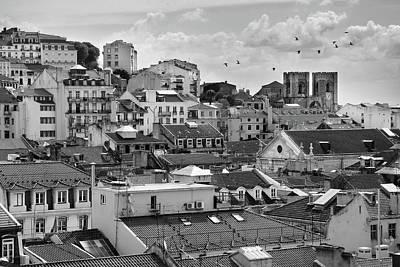 Castle Hill Neighborhood, Lisbon Poster by Carlos Caetano