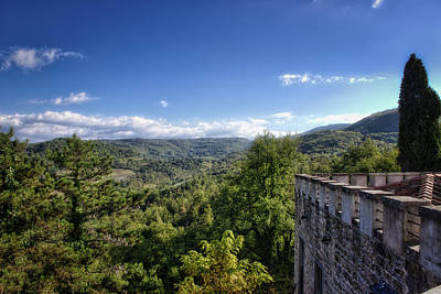 Castle In Chianti, Italy Poster