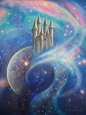 Castle In The Stars Poster by Krystyna Spink
