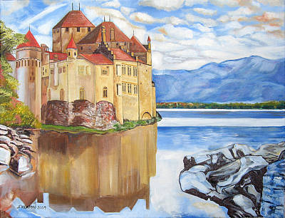Castle Of Chillon Poster by John Keaton