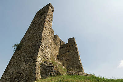 Poster featuring the photograph Castle Of Dasburg Near The Ardennes  - Natioanlpark Eifel - Germany by Urft Valley Art