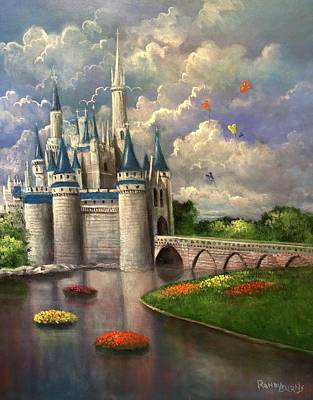 Castle Of Dreams Poster by Randy Burns