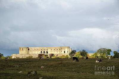 Poster featuring the photograph Castle Ruin In Spotlight by Kennerth and Birgitta Kullman