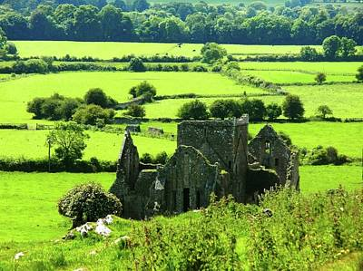 Castle Ruins Countryside Poster