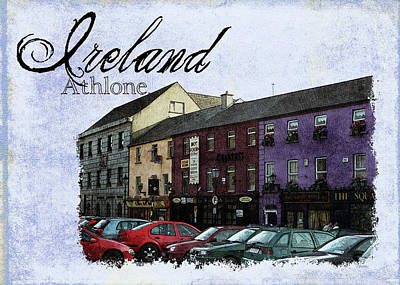Castle Square Athlone Ireland Poster