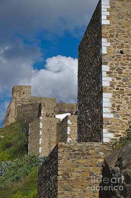 Castle Wall In Alentejo Portugal Poster