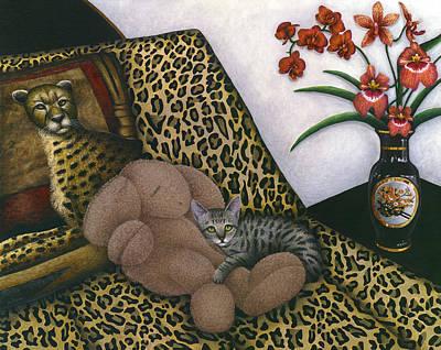 Cat Cheetah's Bed Poster