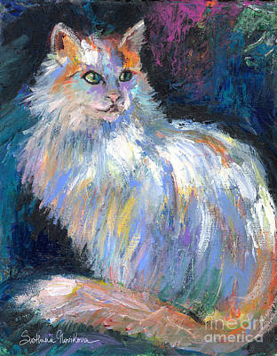 Cat In A Sun Painting  Poster