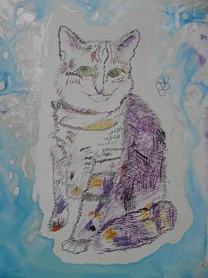 Poster featuring the painting Cat Named Jade by AJ Brown