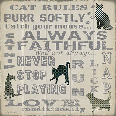 Cat Rules-jp3038 Poster by Jean Plout